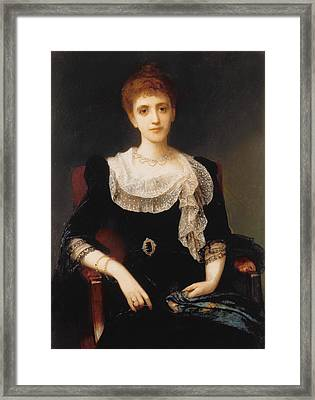Portrait Of A Lady Framed Print by Charles Edward Halle
