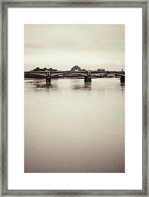 Framed Print featuring the photograph Portrait Of A London Bridge by Lenny Carter