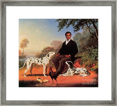 Portrait Of A Native American Man, 1867 Framed Print by Photo Researchers