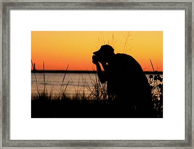 Portrait Of A Photographer Framed Print