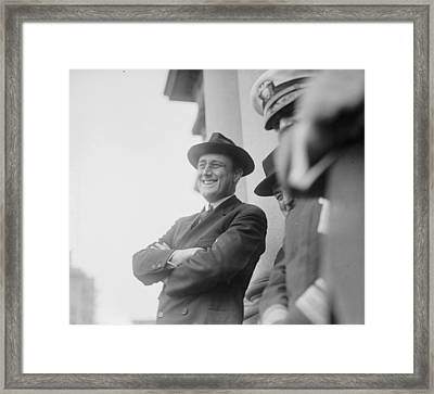 Portrait Of A Relaxed And Smiling Framed Print by Everett