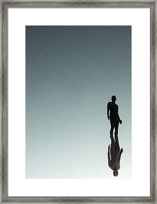 Portrait Of A Self Portrait Framed Print by Robin Johnston