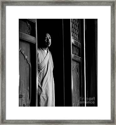 Portrait Of A Shaolin Monk Framed Print by Dean Harte