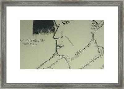 Portrait Of A Shopkeeper Bust Framed Print by Samson Agegnehu