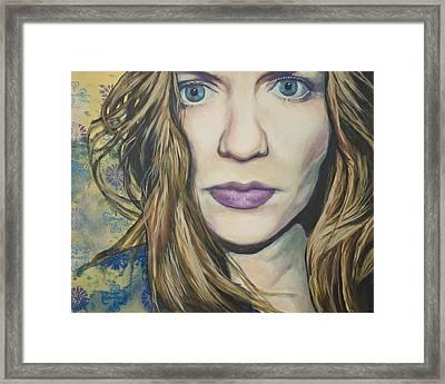 Portrait Of A Wallflower Framed Print by Tyler Auman
