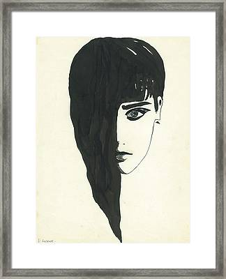 Portrait Of A Woman  Framed Print by Valeria Jye