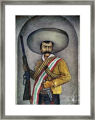 Portrait Of A Zapatista Framed Print by Granger