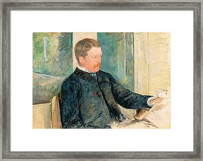 Portrait Of Alexander J. Cassatt Framed Print by Mary Stevenson Cassatt