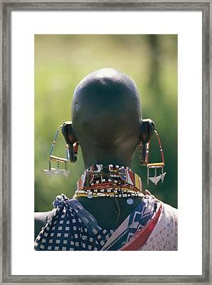 Portrait Of An Elaborately Dressed Framed Print by Karen Kasmauski