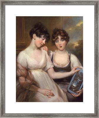 Portrait Of Anne And Maria Russell Framed Print by John Russell