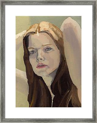 Framed Print featuring the painting Portrait Of Ashley by Stephen Panoushek