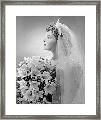 Portrait Of Bride Framed Print by George Marks