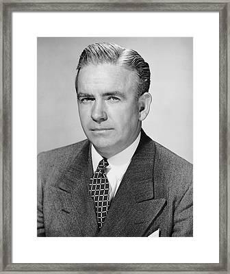 Portrait Of Businessman Framed Print by George Marks