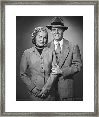 Portrait Of Couple Framed Print by George Marks