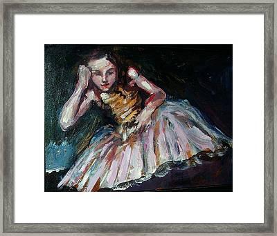 Portrait Of Dakota Fanning Framed Print