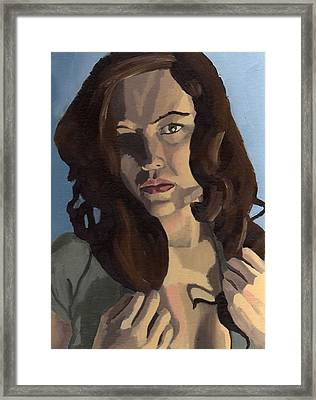 Framed Print featuring the painting Portrait Of Emily Ann by Stephen Panoushek