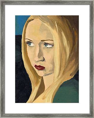 Framed Print featuring the painting Portrait Of Emily by Stephen Panoushek