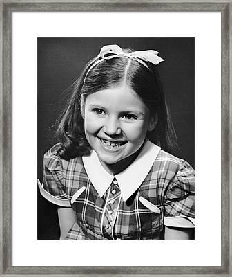 Portrait Of Girl Framed Print by George Marks