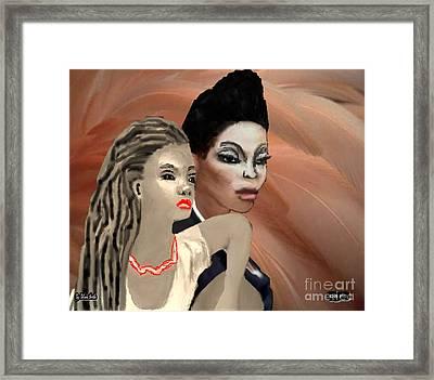 Portrait Of Inner Beauty Framed Print by Belinda Threeths