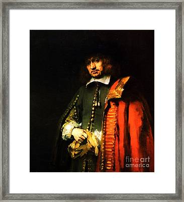 Portrait Of Jan Six Framed Print by Pg Reproductions