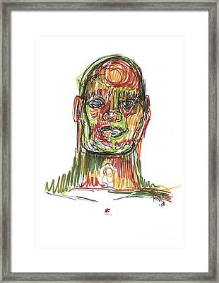 Portrait Of Man Framed Print by Carol Rashawnna Williams