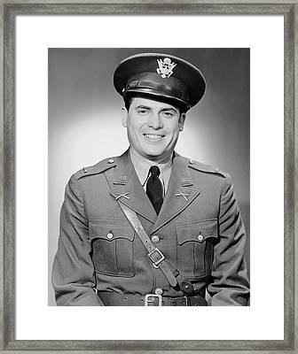Portrait Of Man In Uniform Framed Print by George Marks