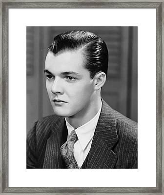 Portrait Of Man Indoor Framed Print by George Marks