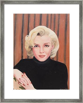 Portrait Of Marilyn Framed Print