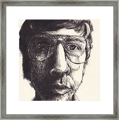 Portrait Of Michael G Framed Print by Canis Canon