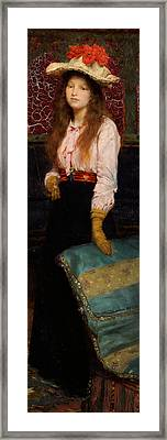 Portrait Of Miss Macwirter Framed Print by Sir Lawrence Alma-Tadema