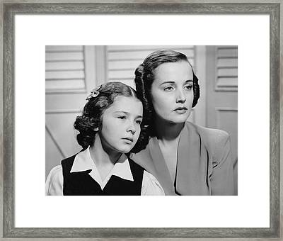 Portrait Of Mother & Daughter Framed Print by George Marks