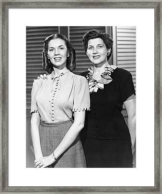 Portrait Of Mother And Daughter Framed Print by George Marks