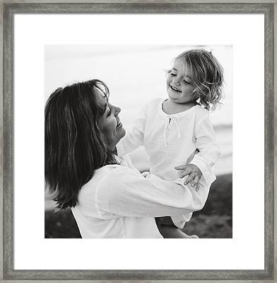 Portrait Of Mother And Daughter Framed Print by Michelle Quance