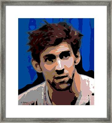 Portrait Of Phelps Framed Print by George Pedro