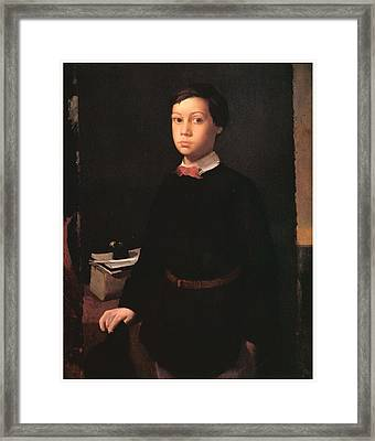 Portrait Of Rene De Gas Framed Print by Edgar Degas