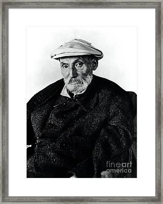 Portrait Of Renoir Framed Print by Photo Researchers