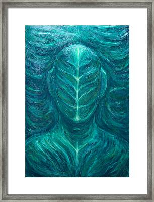 Portrait Of The Real Green Man Framed Print by Kazuya Akimoto