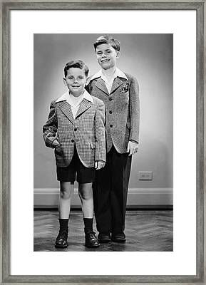 Portrait Of Two Boys Indoor Framed Print by George Marks