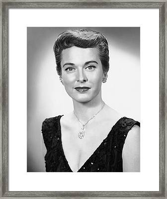 Portrait Of Woman Dressed Formally Framed Print by George Marks