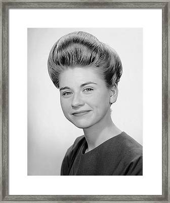 Portrait Of Woman Smiling Framed Print by George Marks