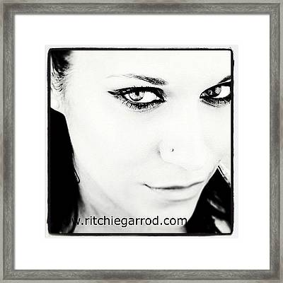 #portrait #photoshoot #bnw #headshot Framed Print by Ritchie Garrod
