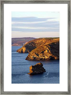 Portreath North Cliffs Framed Print