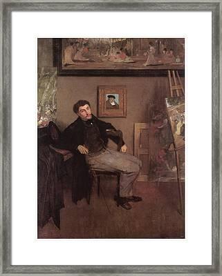 Portriat Of James Tissot Framed Print