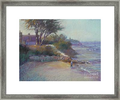 Portsea Evening Framed Print by Pamela Pretty