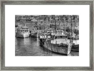 Portsmouth Fishing Fleet Framed Print by Ron St Jean