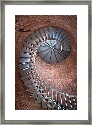 Portsmouth Harbor Lighthouse Stairwell Framed Print by Robert Clifford