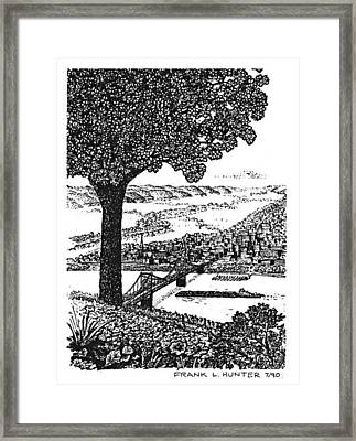 Portsmouth Ohio From A Kentucky Hill Framed Print by Frank Hunter