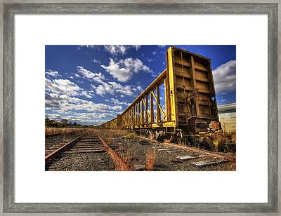 Portsmouth Rail Cars Framed Print by Eric Gendron