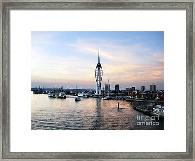 Portsmouth Waterfront Framed Print by Jane Rix