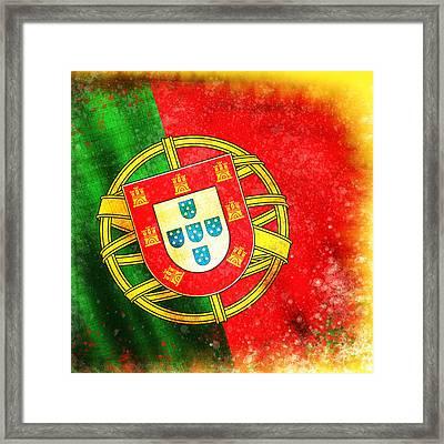 Portugal Flag  Framed Print by Setsiri Silapasuwanchai